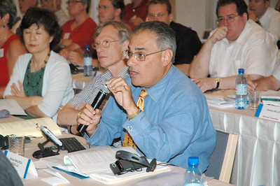 The Rev. Rafael Malpica Padilla, addresses the Lutheran World Federation (LWF) Council meeting in Bethlehem.  Malpica Padilla, executive director of the ELCA Division for Global Mission, is an LWF Council advisor.  The council met in Jerusalem and Bethlehem Aug. 31-Sept. 6.