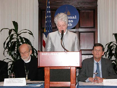 Bishop Sharon Zimmerman Rader, United Methodist Church, said the time is now to speak publicly to political leaders about the Middle East.