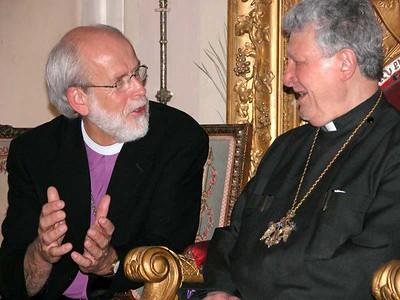 Bishop Hanson and His Beatitude Torkom Manoogian, Armenian Patriarch in Jerusalem