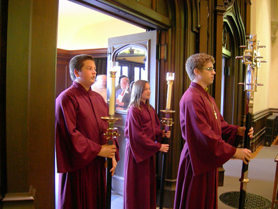 The May 1 worship celebration began with a procession into the sanctuary of Holy Trinity Lutheran Church, Buffalo.