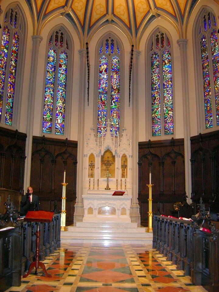 The sanctuary of Holy Trinity Lutheran Church, Buffalo, N.Y.