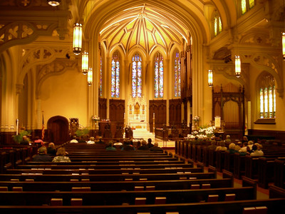 The sanctuary of Holy Trinity Lutheran Church, Buffalo, N.Y.