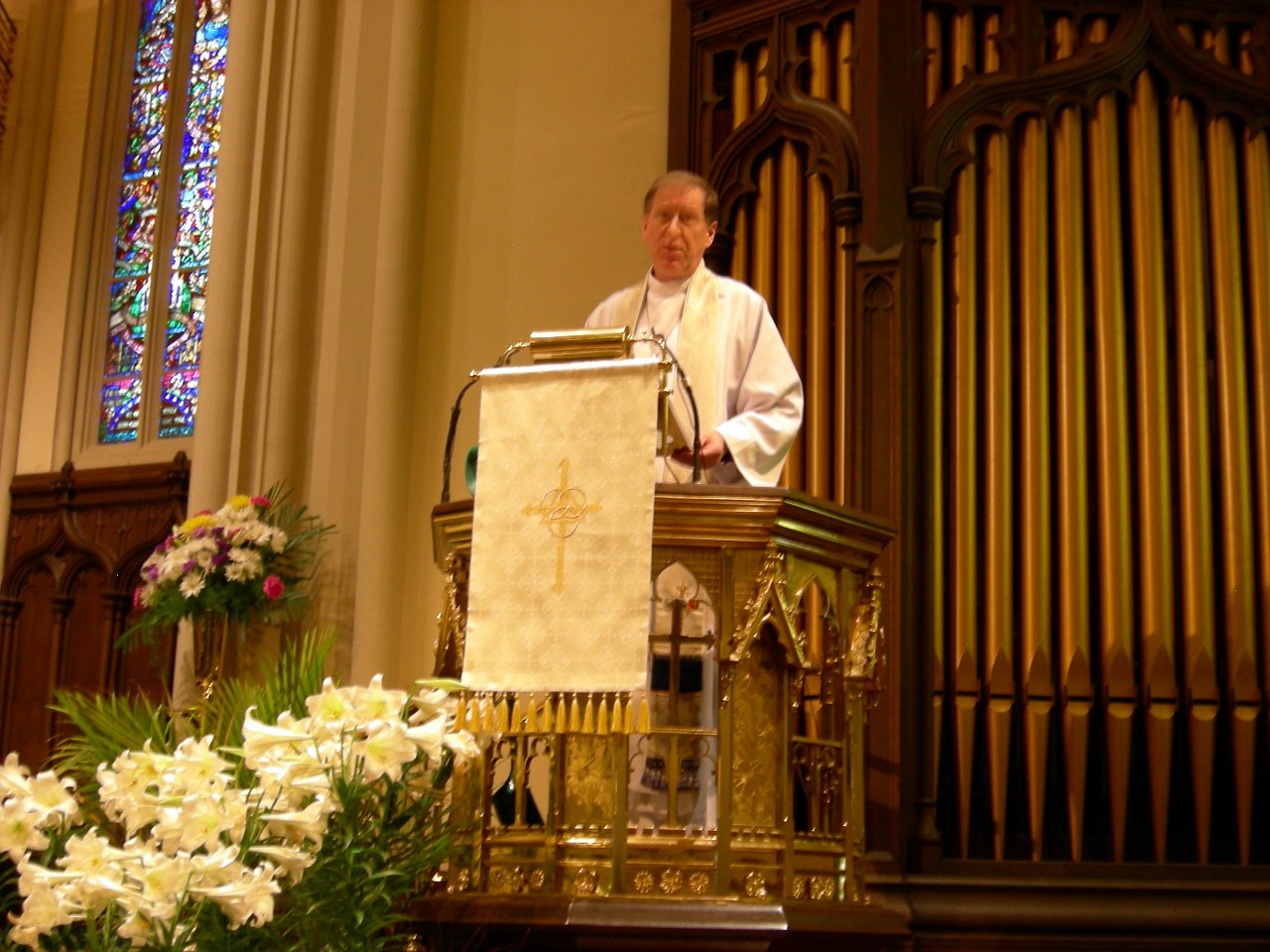 Archbishop Fred Hiltz of the Anglican Church of Canada preached at the May 1 worship celebration in Bufflo, N.Y.