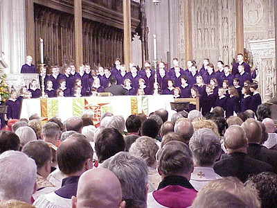 The internationally known St. Olaf Choir, Northfield, Minn., performed. St. Olaf is a college of the ELCA.