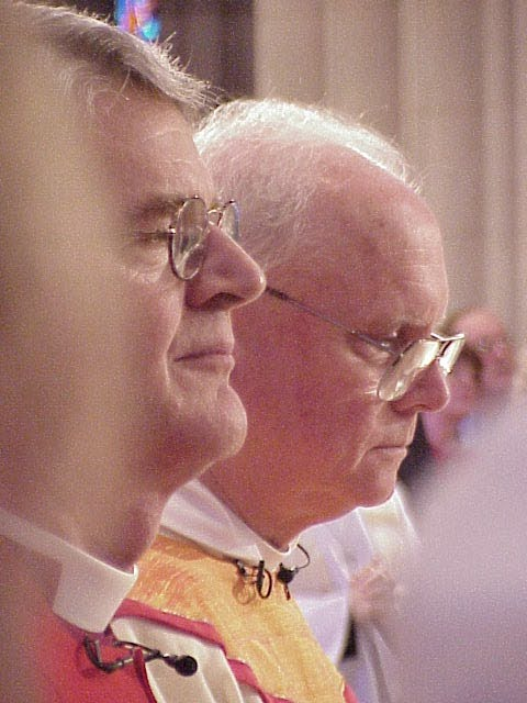 The Most Rev. Frank T. Griswold, presiding bishop, The Episcopal Church, (left) and the Rev. H. George Anderson, presiding bishop, Evangelical Lutheran Church in America.