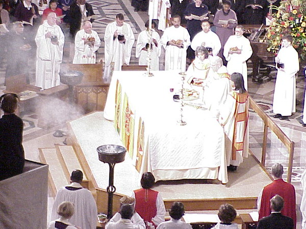 Anderson presided over the Eucharist.