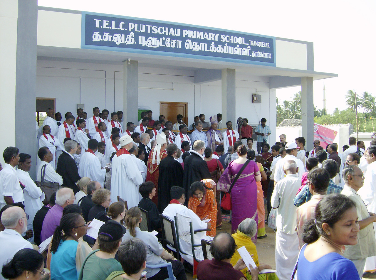 The Tamil Evangelical Lutheran Church preceded Sunday worship July 9 with  the dedication of a new education compound, including the Plutschau Primary School.