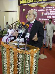 The Rev. Mark S. Hanson, ELCA presiding bishop and LWF president, brought  greetings July 3 to the inauguration program of The Tranquebar  Tercentenary Celebrations.