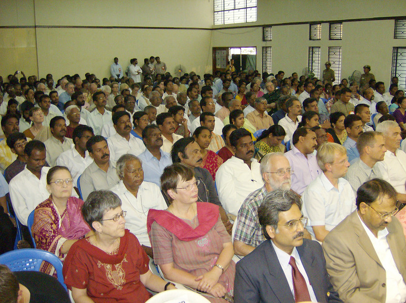 International guests and Lutheran church leaders joined hundreds in Ziegenbalg Auditorium, Gurukul Lutheran Theological College and Research  Institute, Chennai, India, celebrating July 3-7 the 300th anniversary of  the arrival of German missionaries Bartholomaeus Ziegenbalg and Heinrich  Pluetschau in Tranquebar on the southeast coast of India on July 9, 1706.