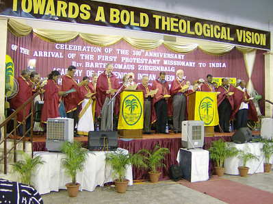 The Academy of Ecumenical Indian Christian Theology and Church  Administration held a special convocation July 7 in honor of those who  contributed to the cause for which Ziegenbalg arrived in India, awarding  26 honorary doctorates in divinity.