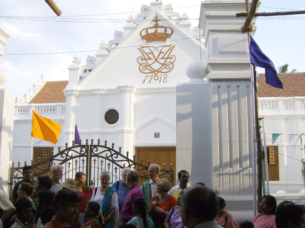 Weekend events showcased many buildings restored after the December 2004  tsunami, including New Jerusalem Church, which Ziegenbalg first dedicated  in 1718 and was rededicated July 8.  Ziegenbalg died in 1719 at the age  of 37, and his body was buried in the church.