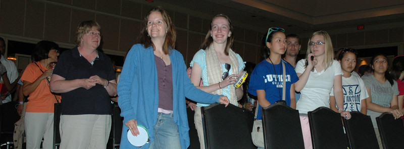 MYLE Participants look on during worship. (Carrie Draeger, 2009)