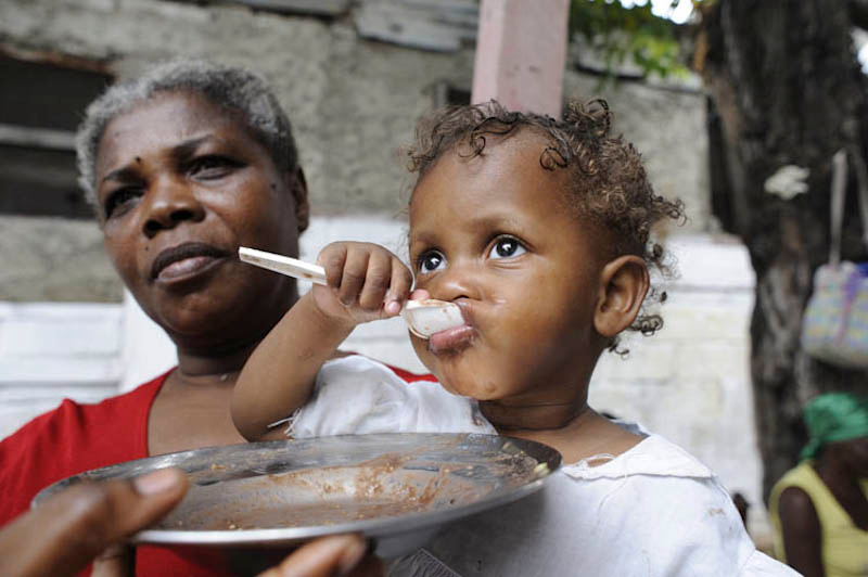 Our partner Aprosifa cares for malnourished children at their clinic in Carrefour Feuilles. Hunger was widespread in Haiti even before the earthquake struck. Photo by Christian Aid/ACT Alliance.