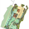 ELD masterplan, to show the car park and grounds around the Medieval Barn wedding venue and conference hall.