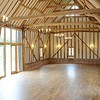 The internal space in the Medieval Barn after restortion.