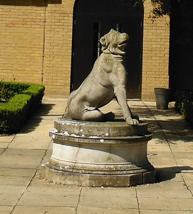 This statue was previously located in the rear garden and was carefully relocated as a feature to the Hotel entrance.