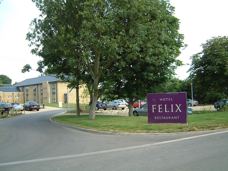 The Entrance to Hotel Felix.
