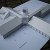 MODEL: Early concept model of the HQ building, made by the Architect's at RH Partnership.