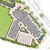 Concept masterplan to show the new building and setting.