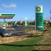 Image of the Ely BP Garage, post development with new landscape scheme implimented.
