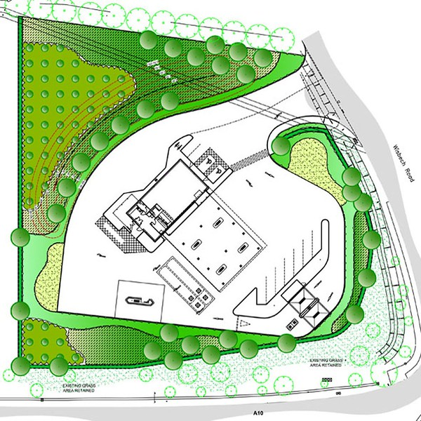 Masterplan for a BP Petrol Filling Station at Littleport, near Ely, Cambridgeshire.