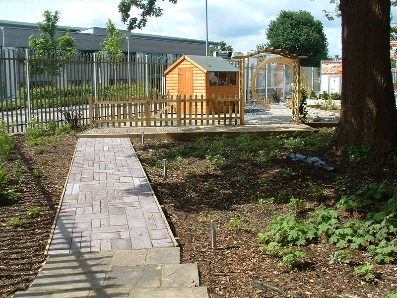 Demonstration gardens completed, without causing an impact on tree roots.