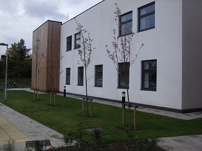 New NHS Hospital building frontage.
