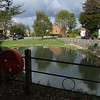 AFTER:  The completed pond after seeding works, to include renovated fence and introduction of life buoy at  the 'deep end'.