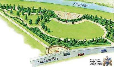 Artist's impression of the park.