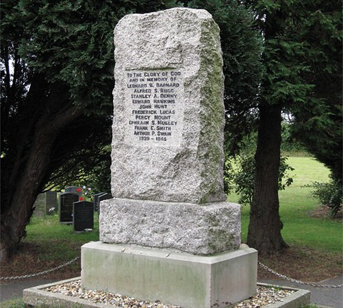 The War Memorial, that may be relocated into the site's Town Square.