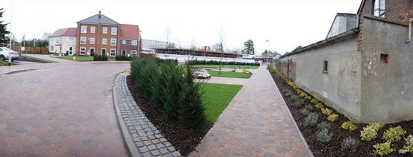 The Town Square open space after completion of planting.