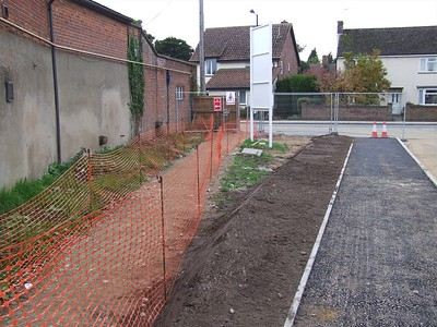 The site entrance, with work just starting.