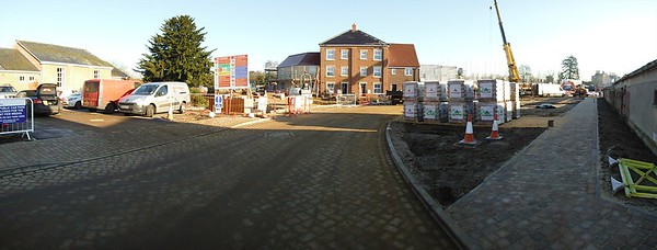 The Town Square car park and open space under construction.
