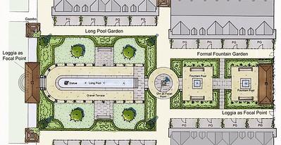 Sketch concept for the Italian Garden.