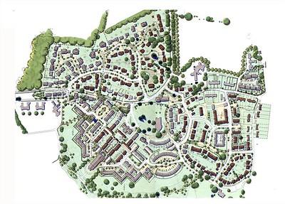 ELD masterplan of the 500 unit scheme.