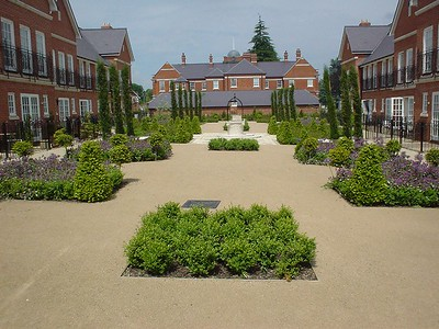 The Italian Garden at completion.