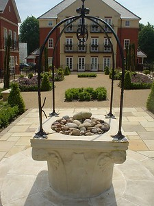 The Italian Garden wellhead at completion.