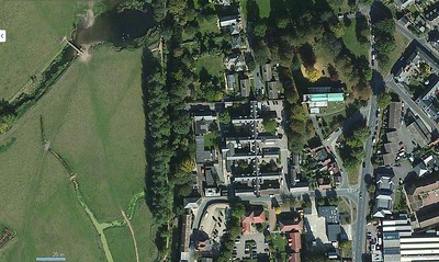 Aerial view of Walnuttree Hospital