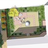 Plan of Courtyard 1 with detailed images of design elements to follow.