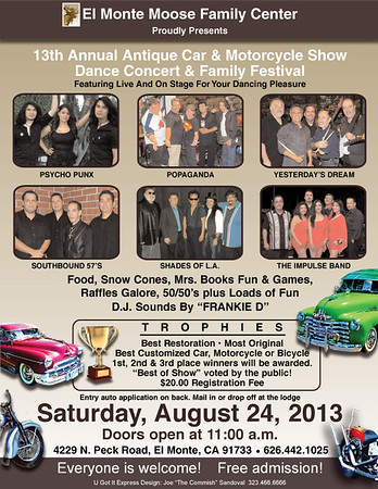 2013 MOOSE CAR SHOW FLYER/POSTER ART