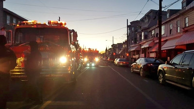 MAHANOY CITY HOUSE FIRE 1-19-2016 PICTURES BY KATE CHAPMAN