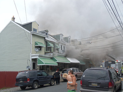 MAHANOY CITY ROWHOME FIRE 7-24-2011 PICTURES BY DANELLE MILLER