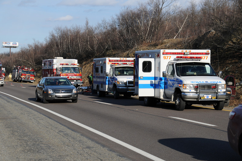 INTERSTATE 81 MM129 RYAN TOWNSHIP VEHICLE ACCIDENT 1-29-2012