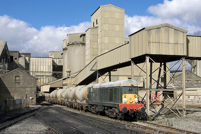 D8056 is pictured on a rake of PCA's at Hope cement works on 16/09/2005.