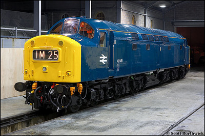 40145 looking resplendant in her new coat of paint at Barrow Hill on 23/02/2006.