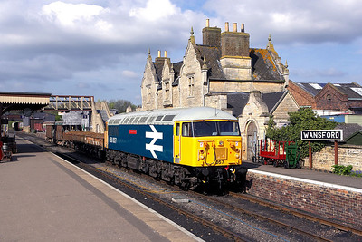 56057 stands in Wansford station on 28/04/2006 during an EMRPS Photo Charter.