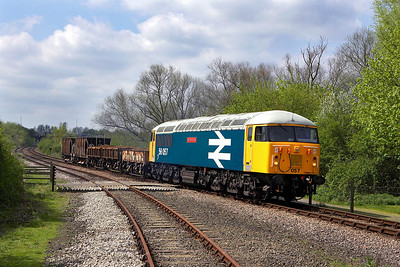 56057 stands at Longueville Junction during the EMRPS Photo Charter on 28/04/2006.