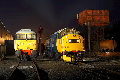 37314 & 47401 stand on shed at Butterley during an EMRPS Photo Charter on 03/02/2007.