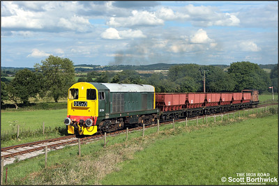 20154 storms up the 1 in 19 Foxfield bank shortly after departing from Foxfield Colliery on 13/07/2008.