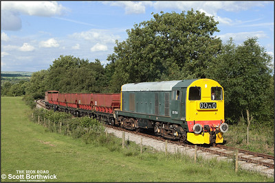 20154 tackles Foxfield bank with a train from Foxfield colliey on 13/07/2008.